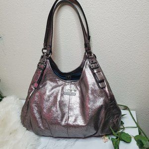 Coach large Madison Champagne Metallic Maggie Hobo